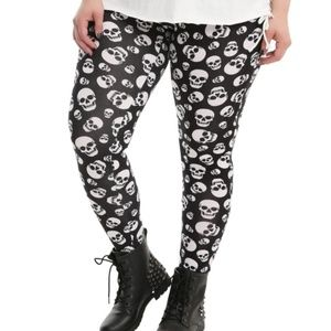 hot topic skull leggings goth killstar blackcraft